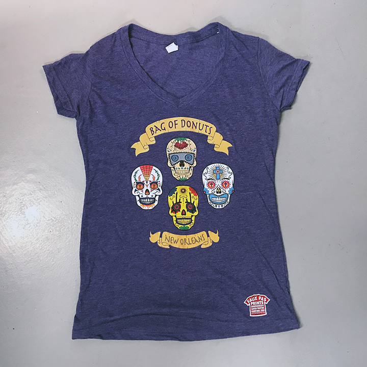 Skulls Ladies V-neck