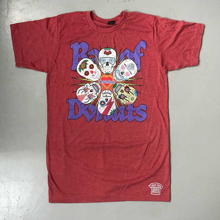 6 Skulls Unisex T-Shirt Red