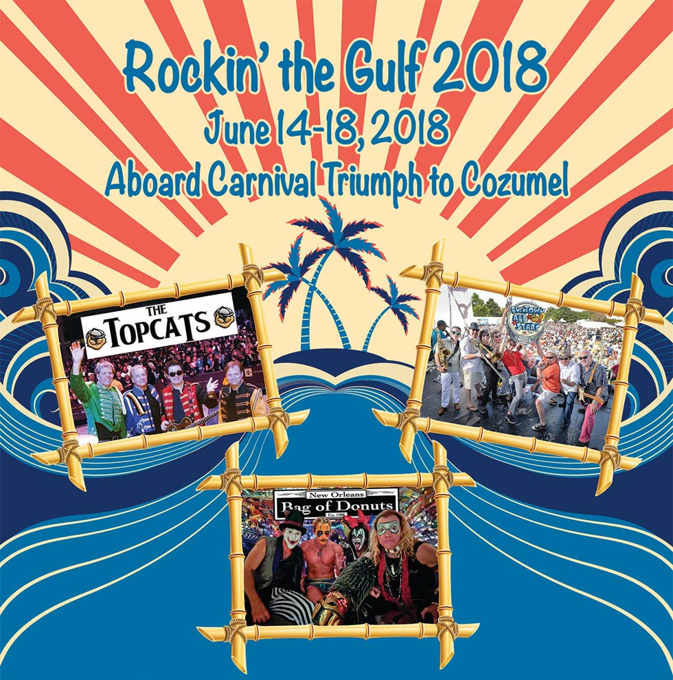 Rockin The Gulf Cruise to Cozumel with Bag of Donuts, Topcats, and Bucktown Allstars